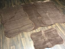 ROMANY WASHABLES TRAVELLER MATS SETS NON SLIP LARGE SIZE, BEST QUALITY, BROWN